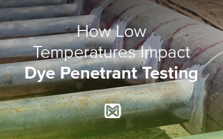 Dye Penetrant Testing on Pipe